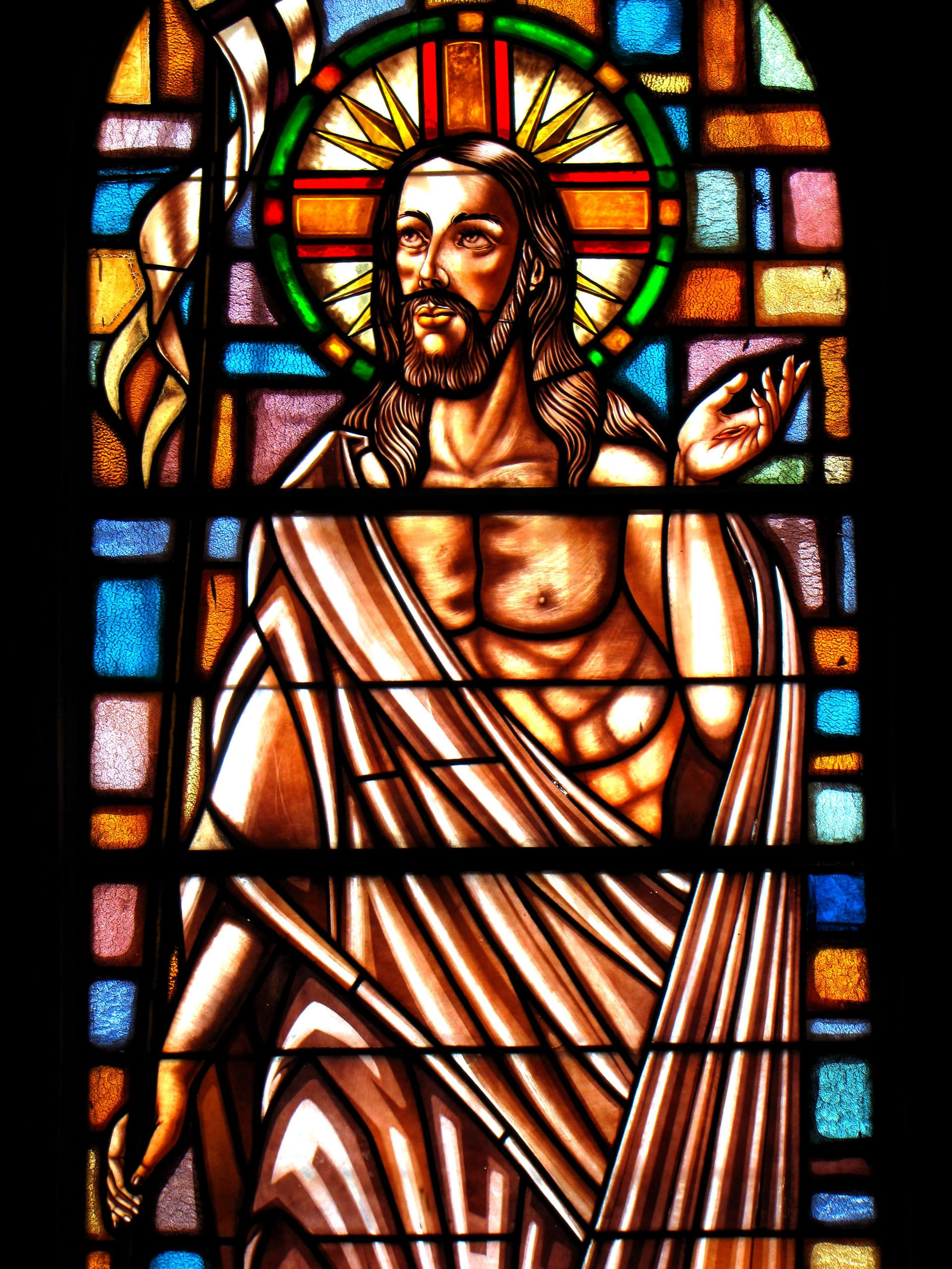 jesus, jesus, stained glass, art, sacred, resurrected, victoria, resurrection, senor, son of god, christ, salvador, redeemer, king, messiah