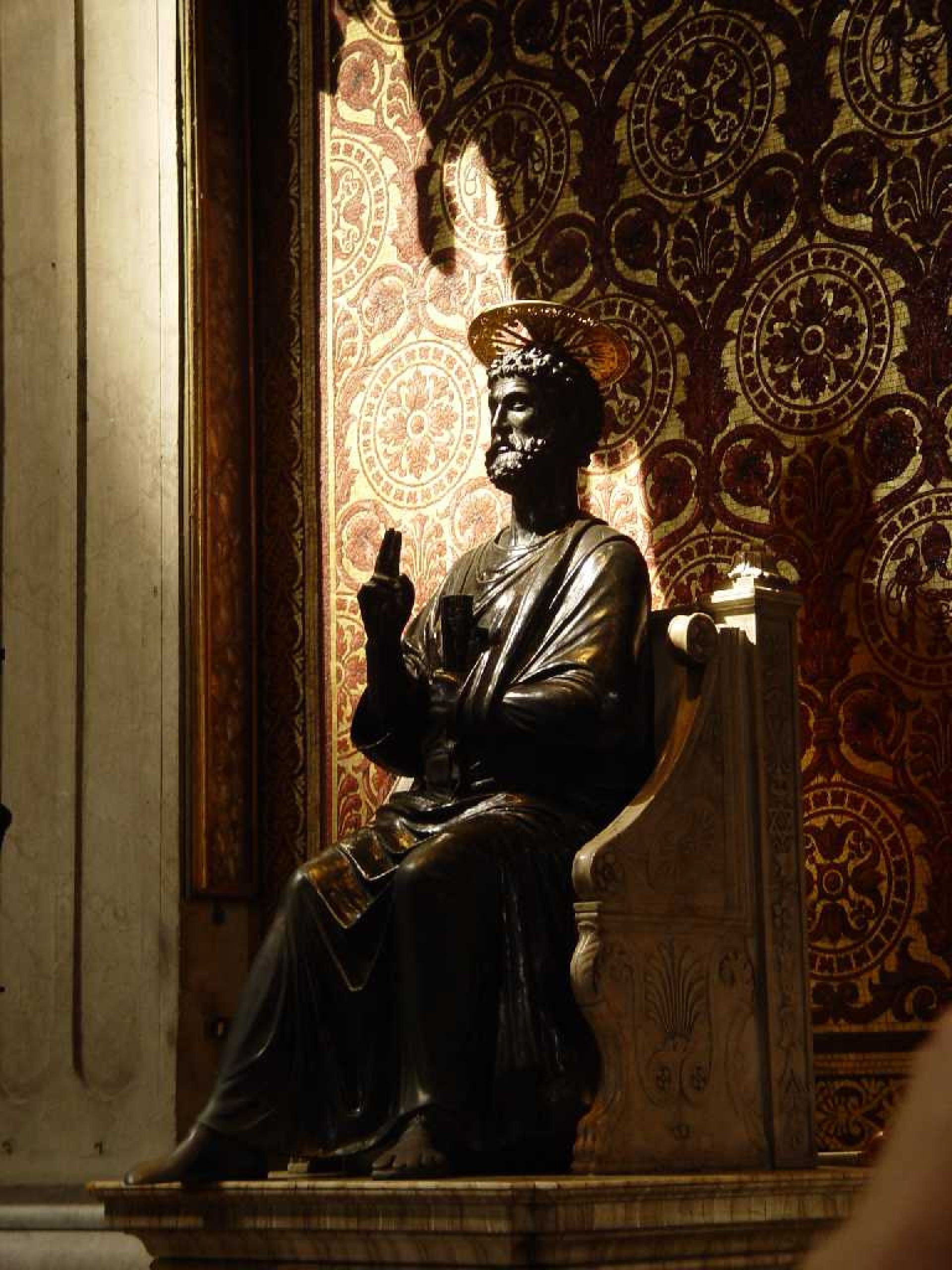 vatican, san pedro, basilica, peter, statue, san, bronze,  santidad, holy, apostle, student, first dad, kefas