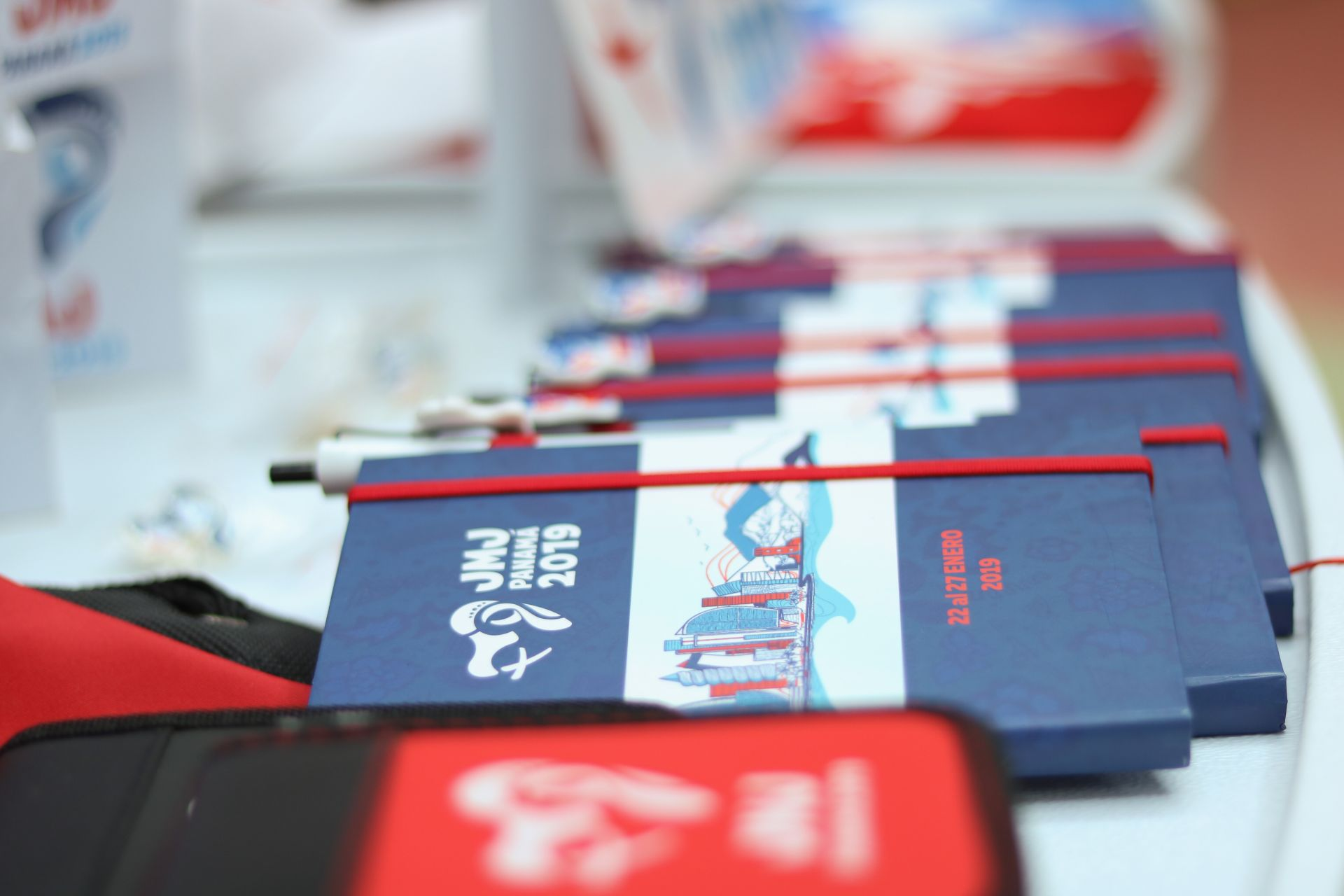 jmj, city, working day, panama, youth, book, red, blue, world, 19, notebook, agenda