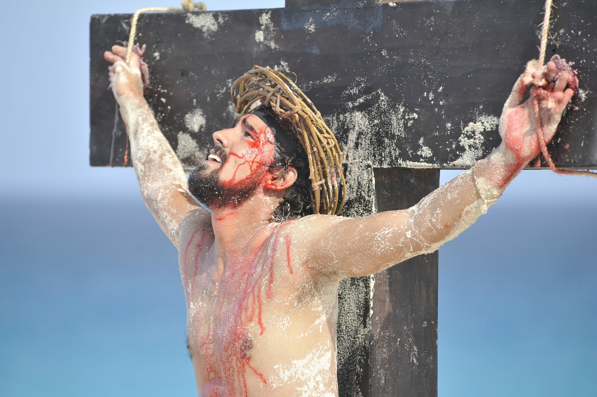 christ, beach, jesus, passion, cancun, way of the cross, crucifixion