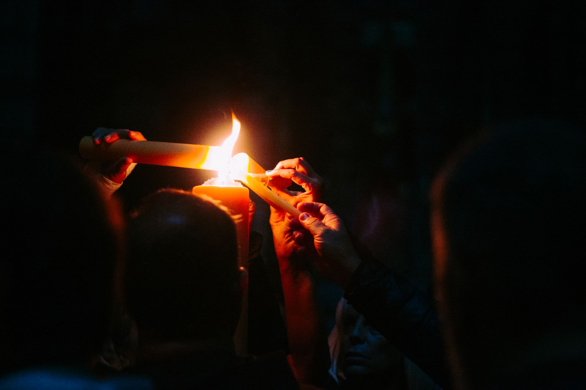 light, hands, sailing, darkness, turn on, candle, light, fire, easter vigil