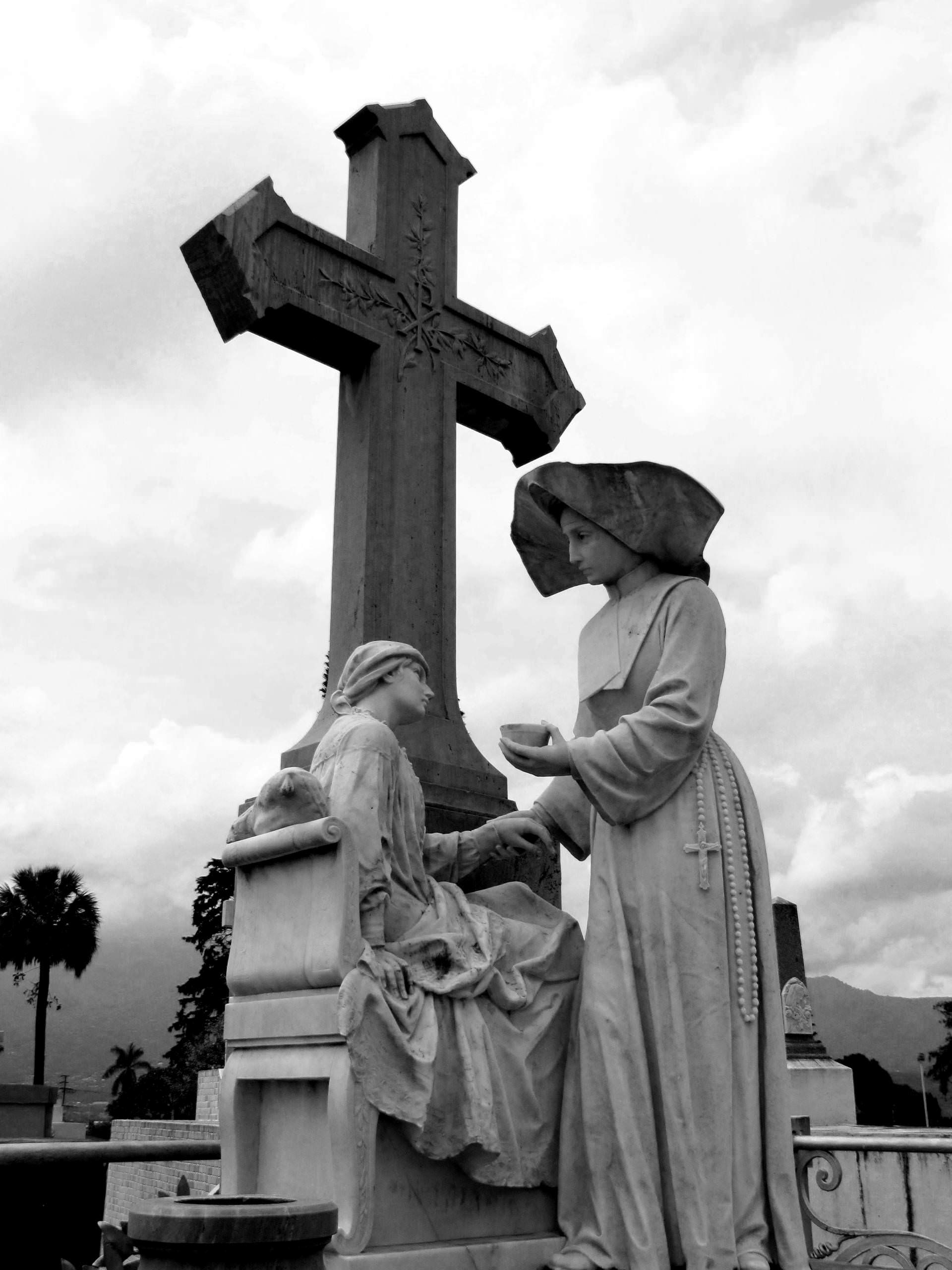 sculpture, cemetery, , cemetery, sisters, charity