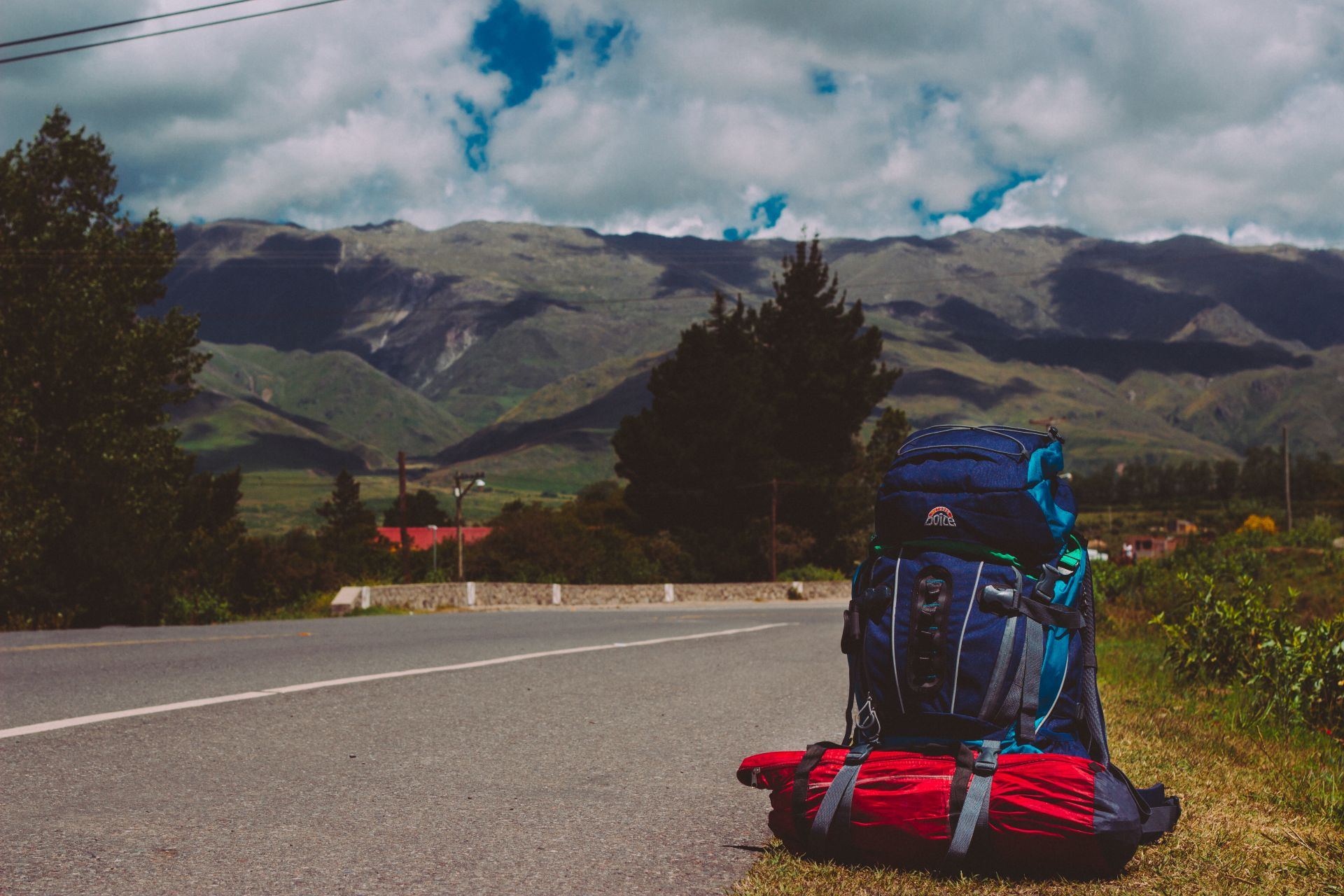 , mission, peace, horizon, backpack, trip, traveler, luggage, path
