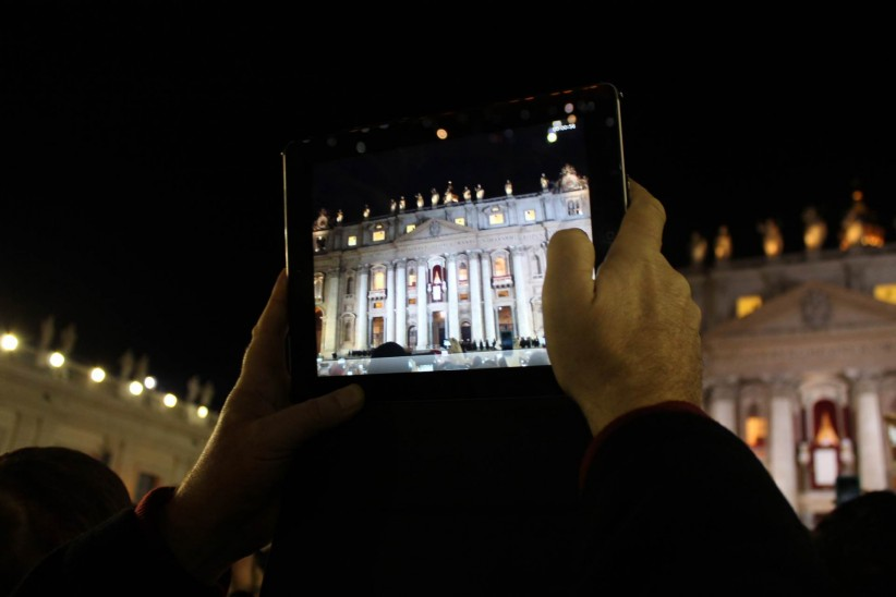 vatican, san pedro square, rome, pope francisco,  conclave, technology