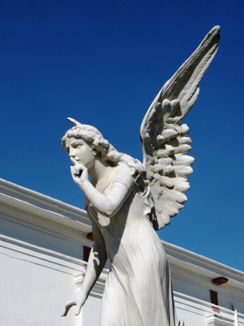 angel, silence, art, grave