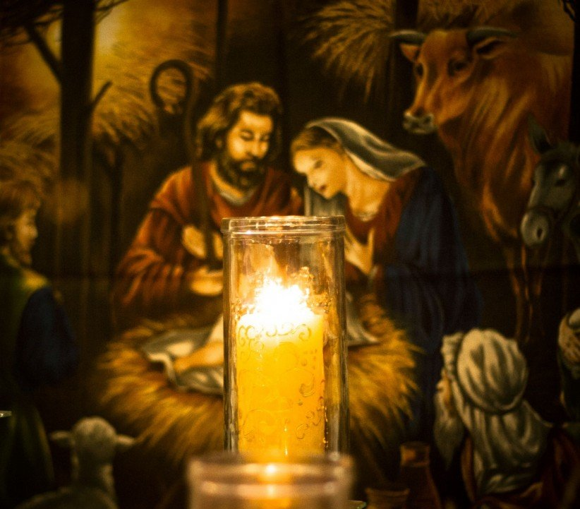 light, Christ, sailing, belen, family, birth, nativity, manger