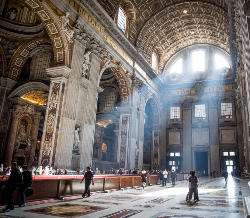 light, love, greatness, creation, rome, basilica, people, art