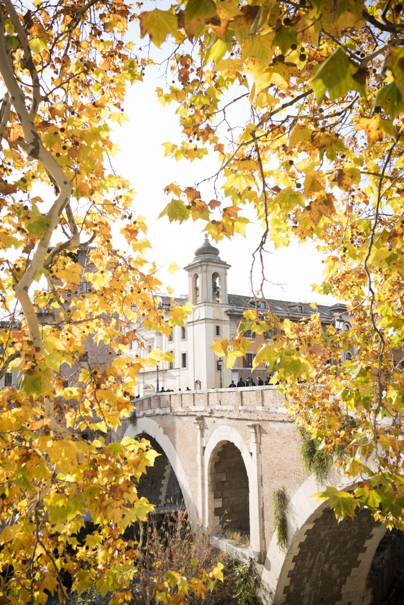 church, rome, bell tower, nature, chapel, italy, pilgrimage, bridge