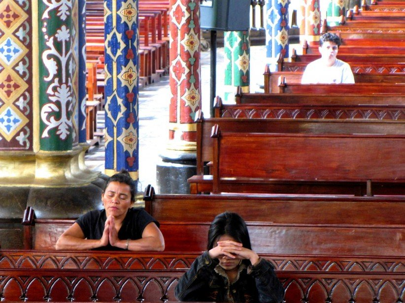 church, sentence, costa rica, the mercy, women, recollection, on knees