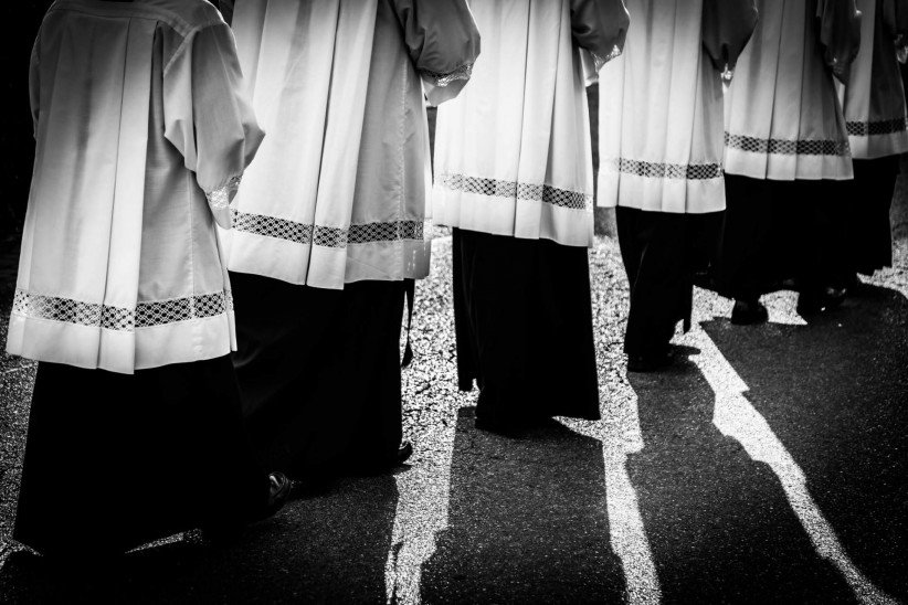 path, seminarian, pilgrimage, religious, walk, walking, procession, pilgrimage