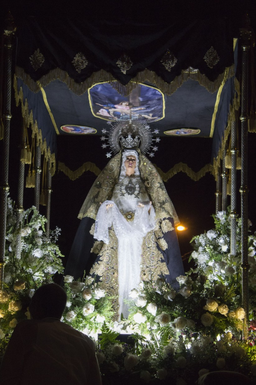 light, virgin, procession, flowers, fe, friday, pains
