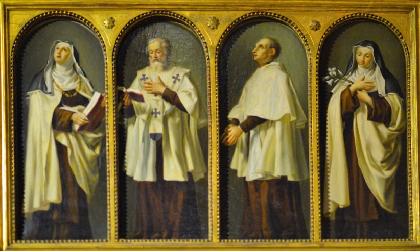 religious, altarpiece, consecrated, saints, santas