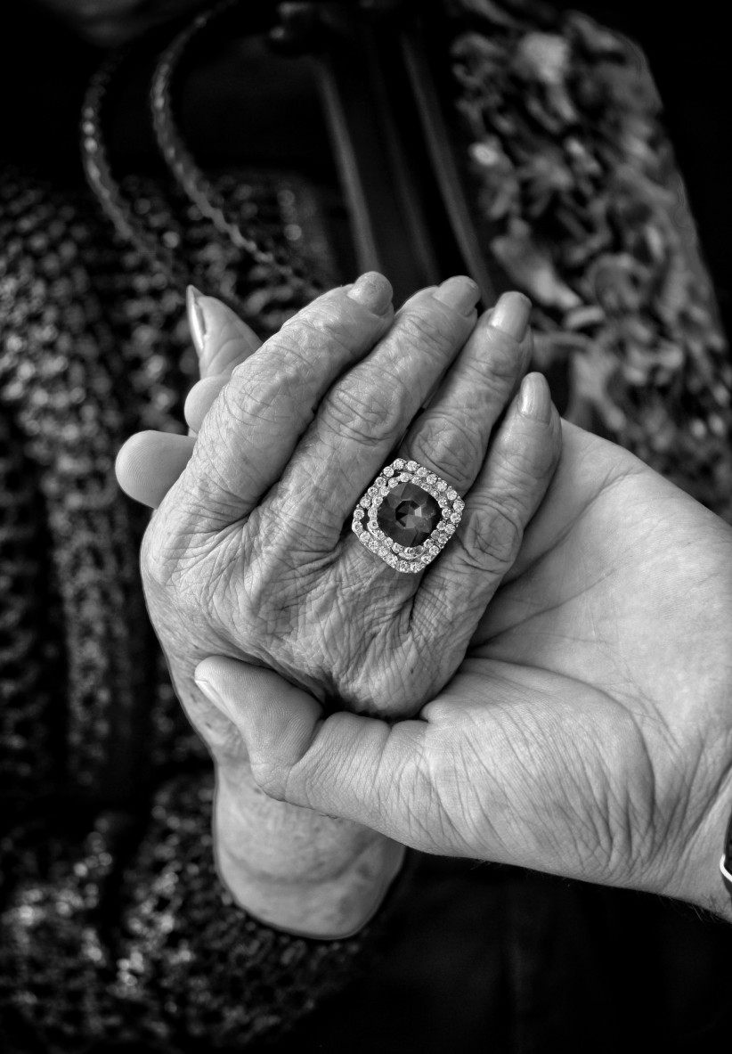 hands, ring, grandma, wisdom, old age