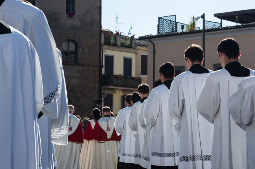 procession, priests, vocation, seminarians, corpus, solemnity, thursday
