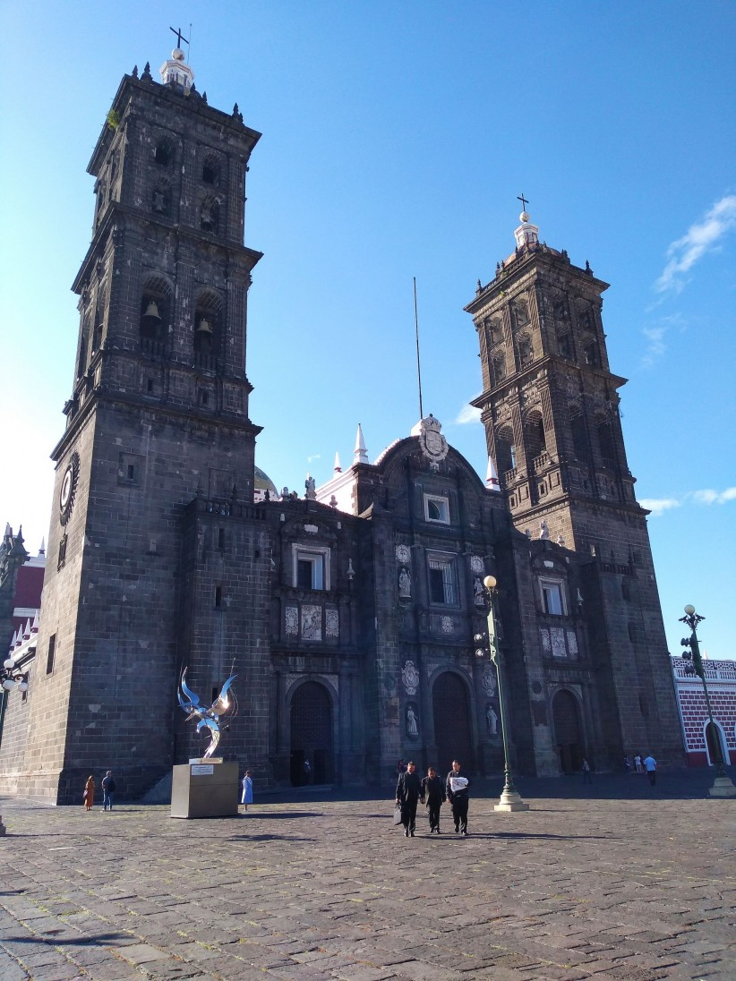 church, priest, cathedral, puebla