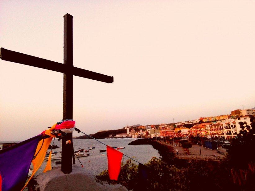cross, beach, christ the king, landscape, dawn