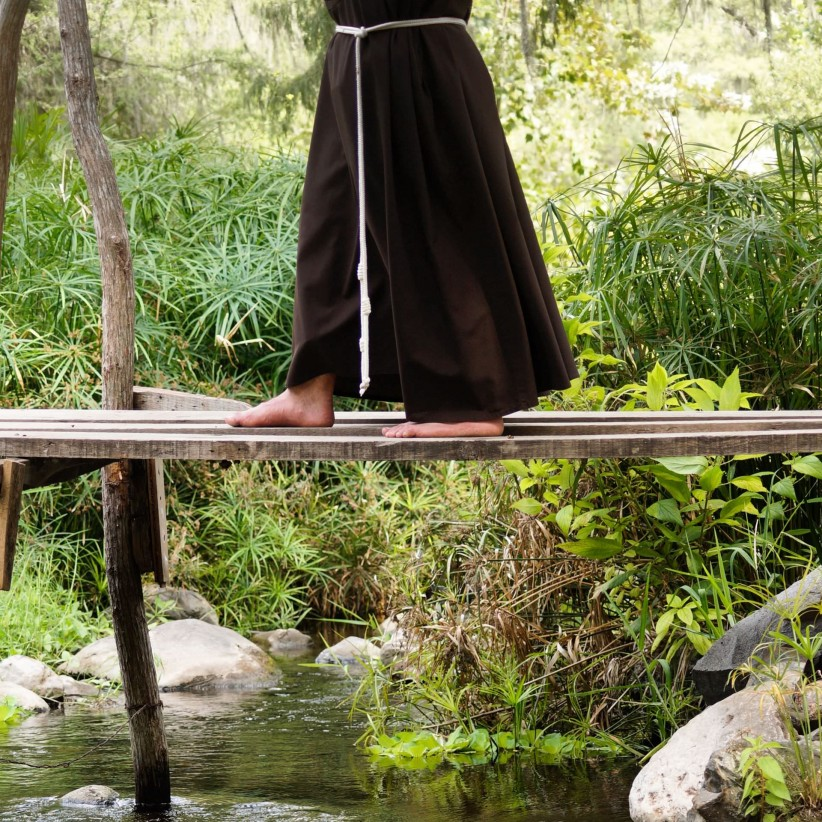 path, nature, vocation, river, steps, fray, religious, habit