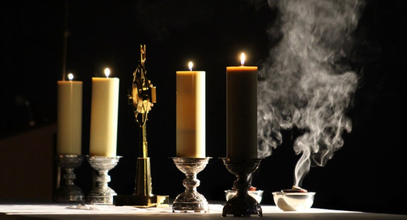 light, santisimo, candles, smoke, sailing, altar, fire, worship, praise, to illuminate, light