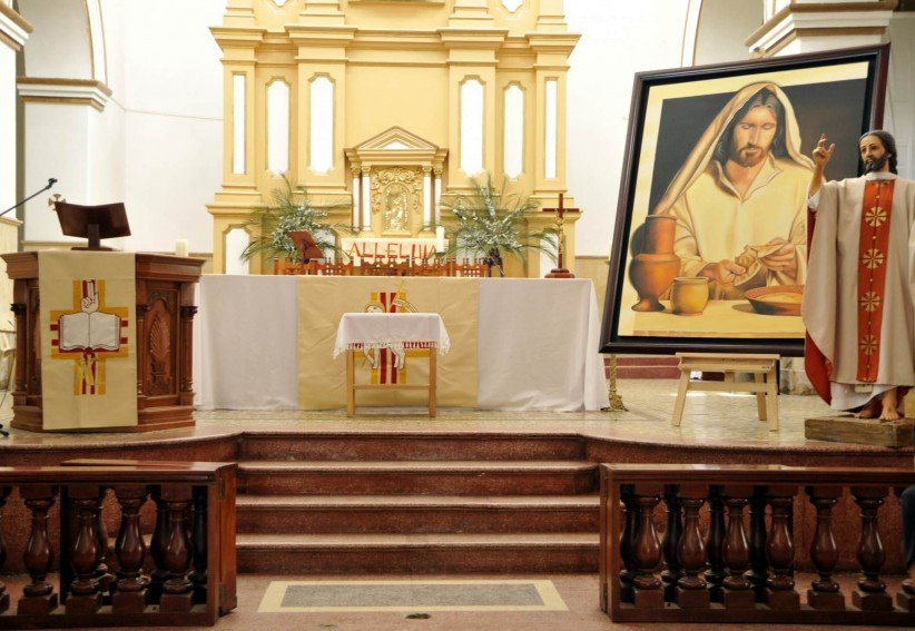 altar, temple, mass, art, easter, holy thursday, hallelujah