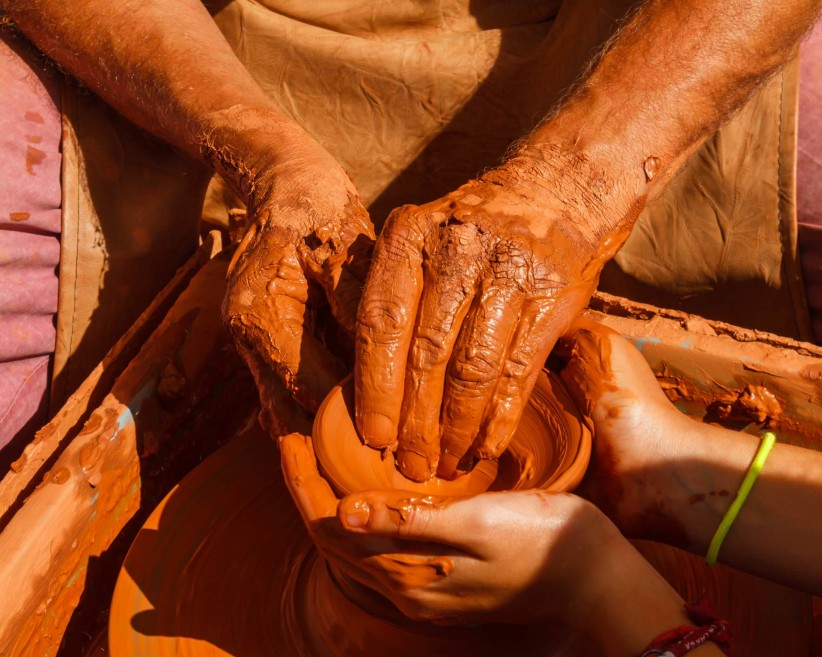hands, charity, fraternity, solidarity, mud, potter, cooperation