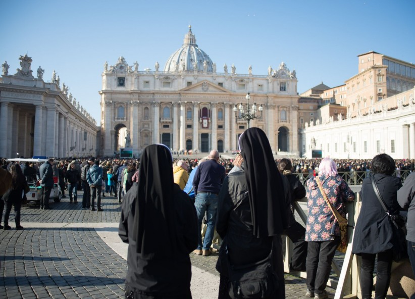 vatican, peter, blessing, vocation, nuns, religious, sisters, square