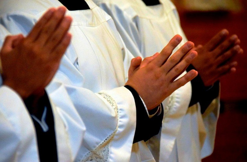 hands, priests, mass, profession, seminarians, fidelity, cassock, cures