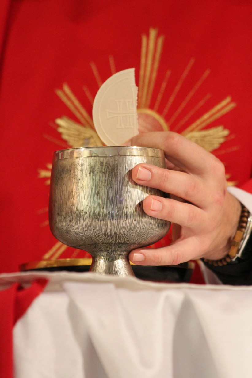 body of christ, priest, wine, blood of christ, pan, chalice, consecrated host, lamb of god, fraction of bread