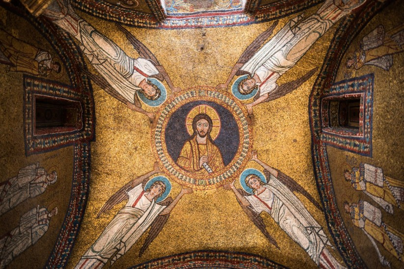 church, christ, sky, mosaic, pantocrator, art, fe, icon