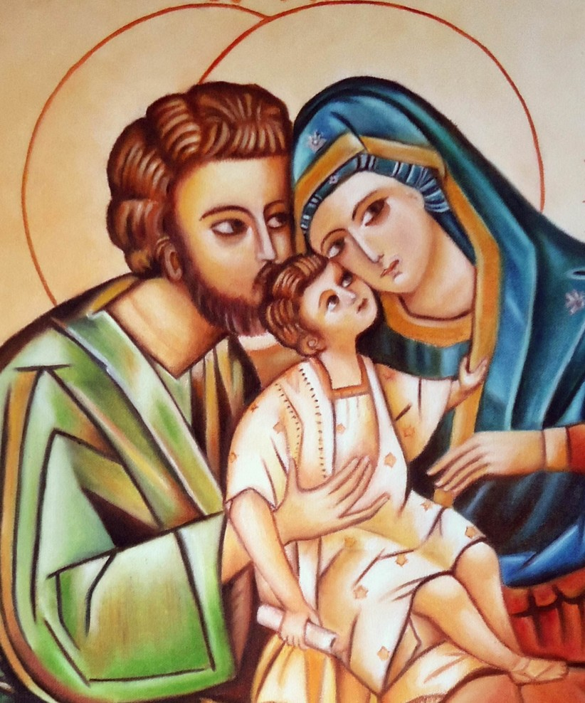 love, family, sacred family, jesús, maria, icon, josé, home