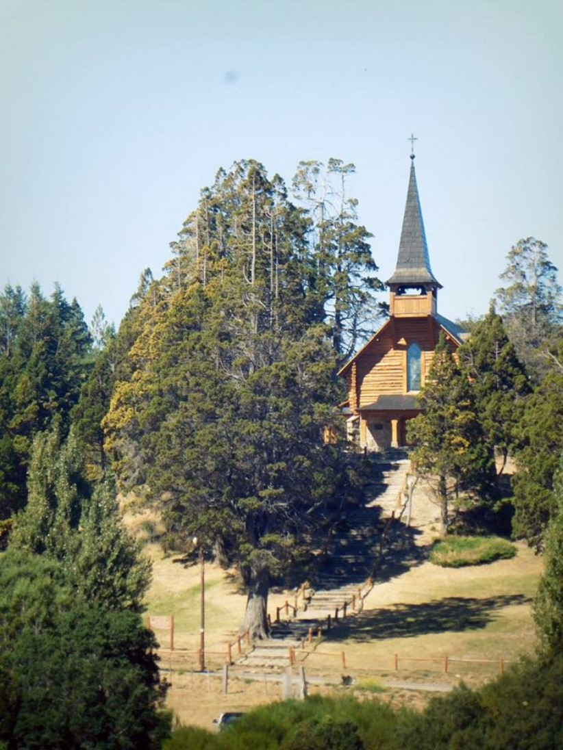 church, path, temple, chapel, path, forest, bariloche