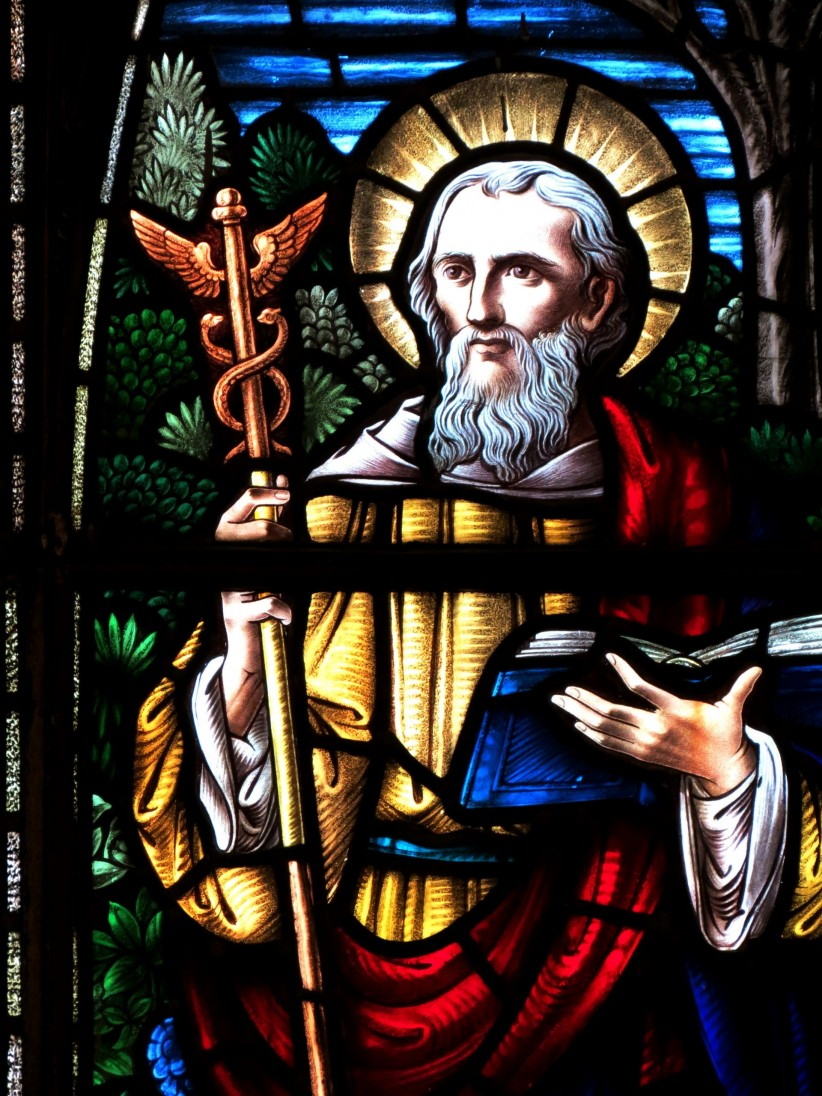 gospel, art, stained glass, lucas, evangelist, doctor