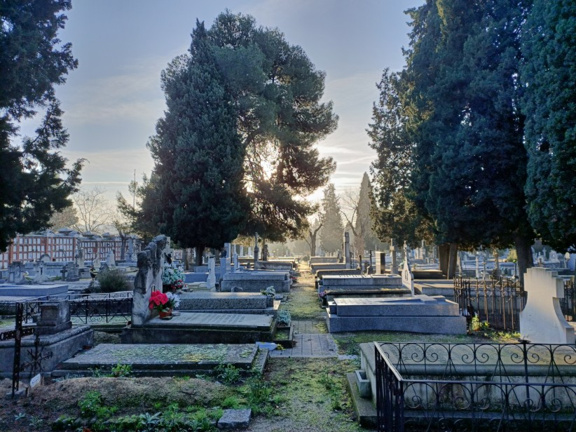 Sunrise in the cemetery