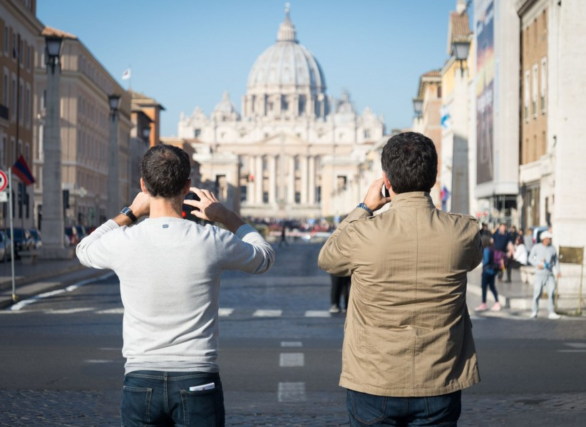 vatican, rome, dome, peter, italy, beauty, street, people