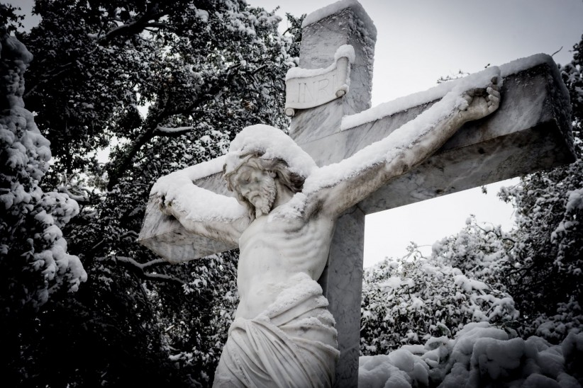 cross, christ, jesus, passion, christmas, snow, calvary, easter