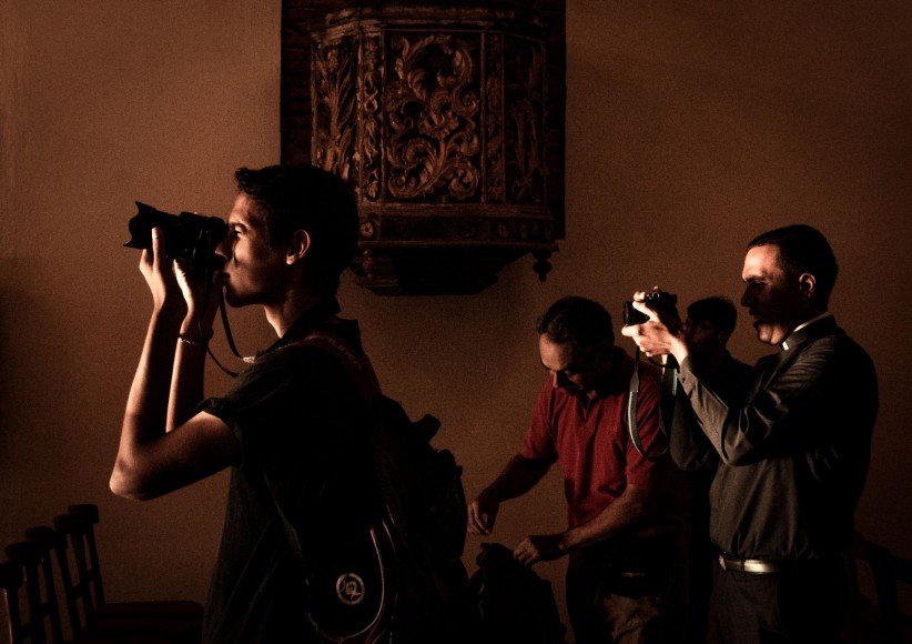church, priest, chapel, art, camera, photographer, shades
