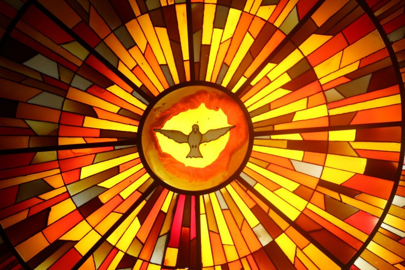 window, stained glass, dove, holy spirit, ghost!, divine promise