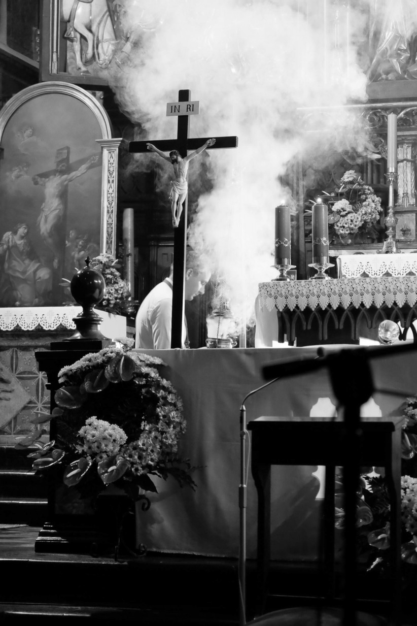 christ, jmj, incense, worship, cracovia, church of the franciscans