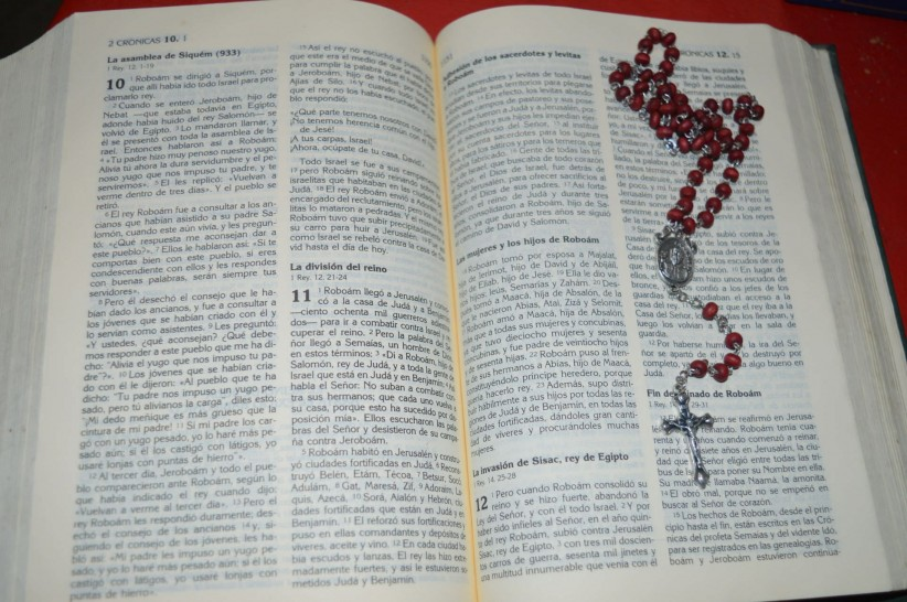 bible, rosary beads, reading, word of god, sacred writings, reading, read, to meditate, meditation