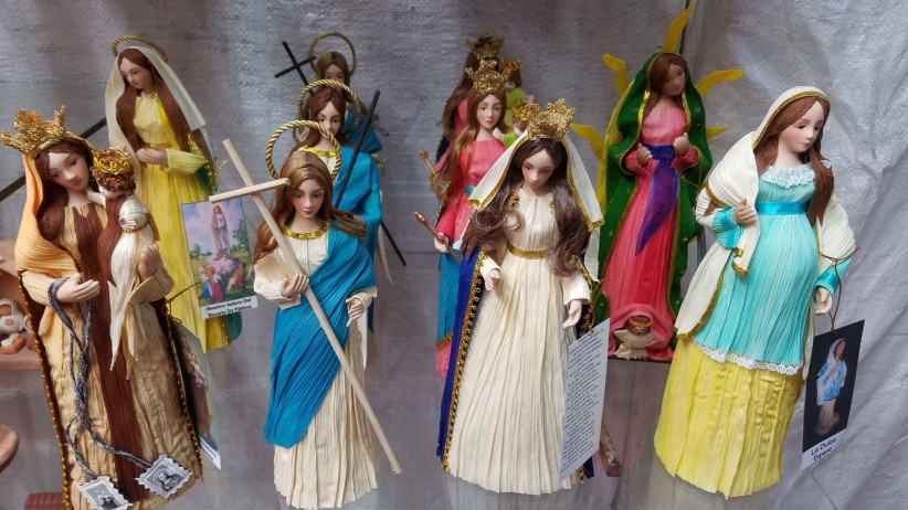 virgin, queen, carmen, images, colombia, cartagena, typical, handicrafts