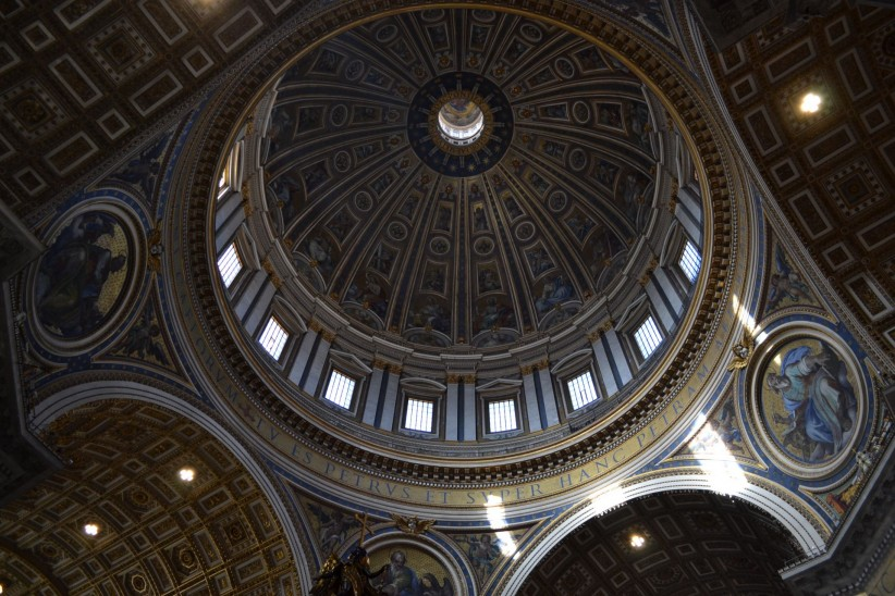 vatican, dome, the ceiling, art, painting, height