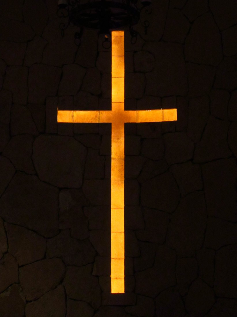 cross, night, church, light, darkness, shadow, to illuminate