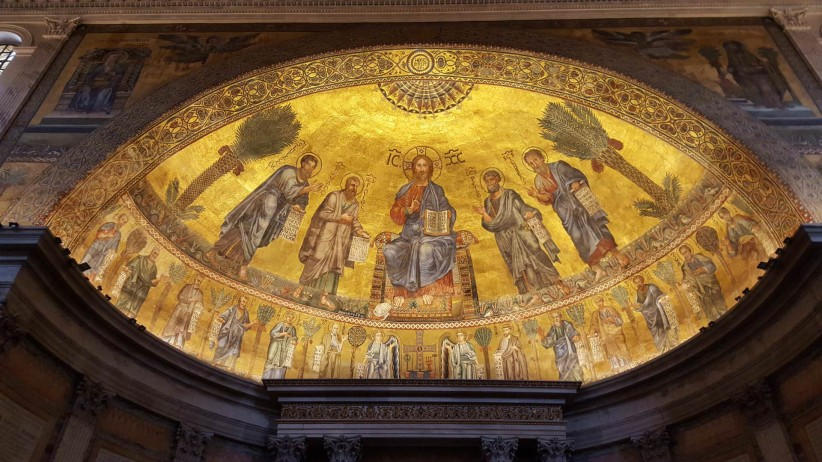 church, christ, rome, basilica, dome, jesus christ, pantocrator