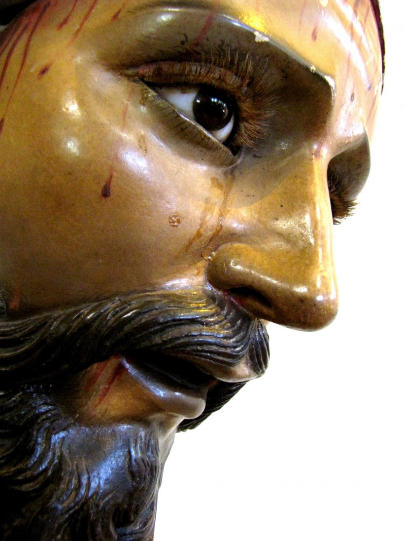 jesus, sacred art, nazarene, color, heredia face