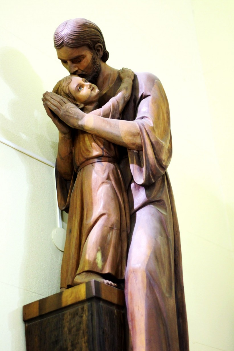 hug, holy, holiness, custodian, saint joseph, child jesus, patron of the church