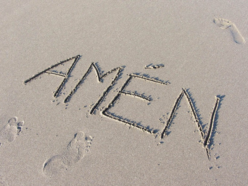 arena, playa, amen
