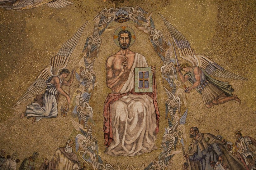 Christ, mosaic, basilica, Dome, Jesus Christ, Valley of the Fallen, monastery, pantocrator