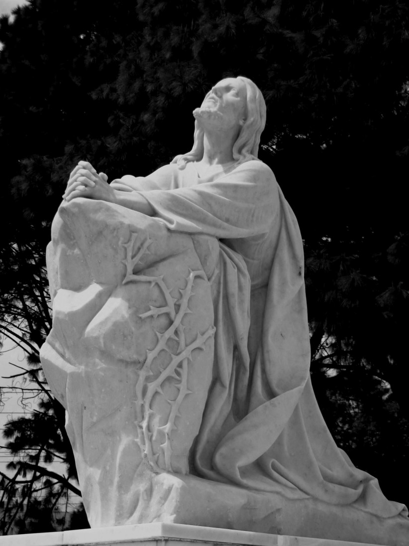sculpture, cemetery, , passion, lord of the garden, jesus praying to the father, jesus in the garden