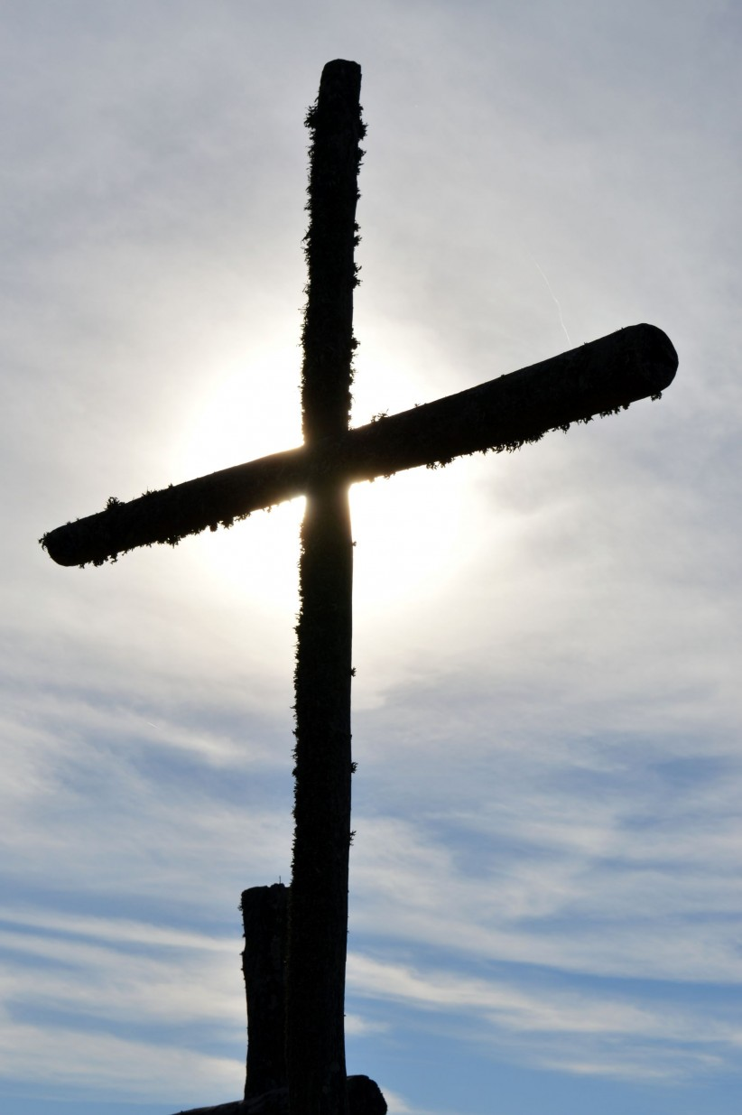 light, cross, christ, sky, clouds, love, passion, crucifixion