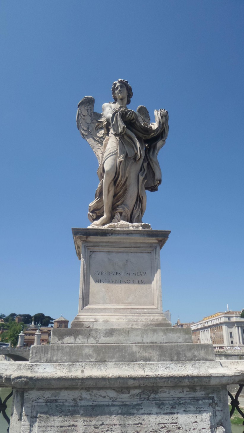 bernini, angel, angels, castle of sant'angelo, roman monument, holy angel's castle