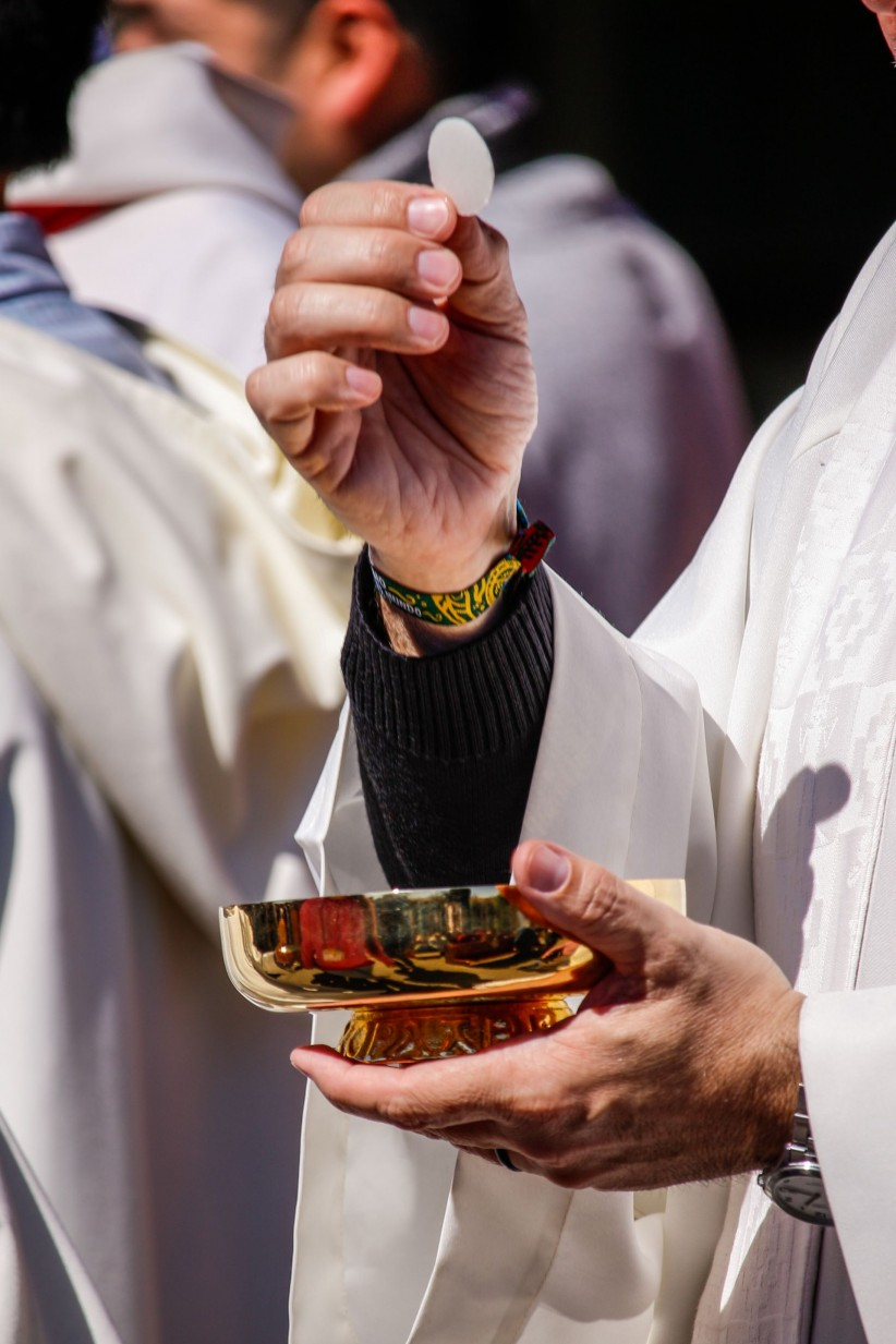 eucharist, priest, mass, communion, priest